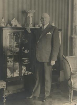 : Estlands ambassadør i Sverige, sideakkreditert i Norge, Friedrich Karl Akel, senere estisk utenriksminister. Foto: Axel Malmström, Sveriges statsarkiv