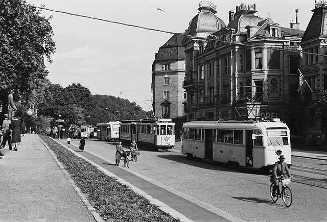Dette bildet fra et tilsynelatende fredelig Oslo er tatt i 1940. Foto: Anders B. Wilse