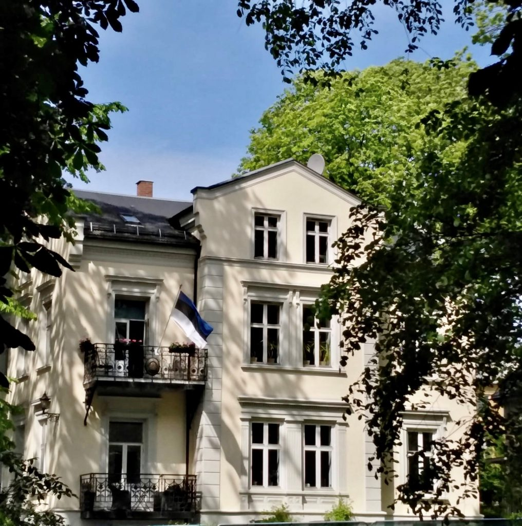 : Estlands ambassade i Norge, Parkveien 51, Oslo. Foto: Estlands representasjon i Oslo